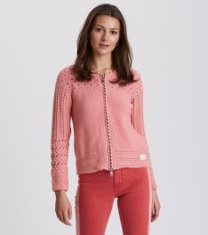 SVETER ODD MOLLY SYMMETRY MOVES ZIP CARDIGAN