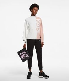 SVETER KARL LAGERFELD PUFFY SLEEVE SWEATER W/ LOGO