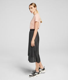 SUKŇA KARL LAGERFELD METALLIC PLEATED SKIRT