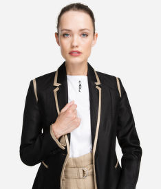 BLEJZER KARL LAGERFELD TAILORED TWILL BLAZER W/PIPING