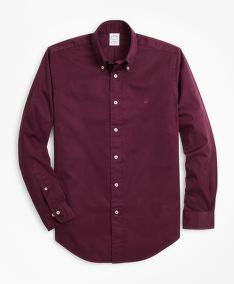 KOŠEĽA BROOKS BROTHERS REGENT FIT GARMENT-DYED TWILL SPORT SHIRT