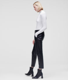 NOHAVICE KARL LAGERFELD LEATHER TAILORED PANTS