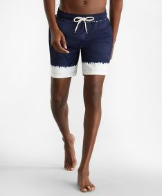 PLAVKY BROOKS BROTHERS CBT ML PRINTED SWIM MONTAUK 6 NAVY TIEDYE