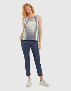 KOŠEĽA LA MARTINA WOMAN STRIPED LUREX BLOUSE